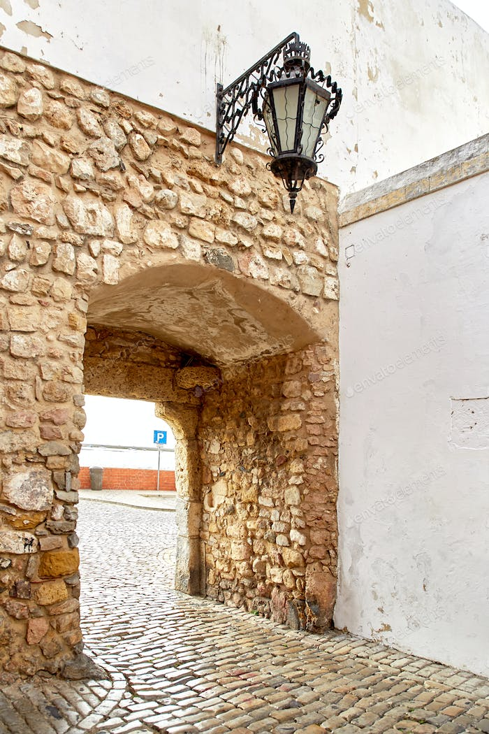 Gateway to nature park of Ria Formasa in Faro city