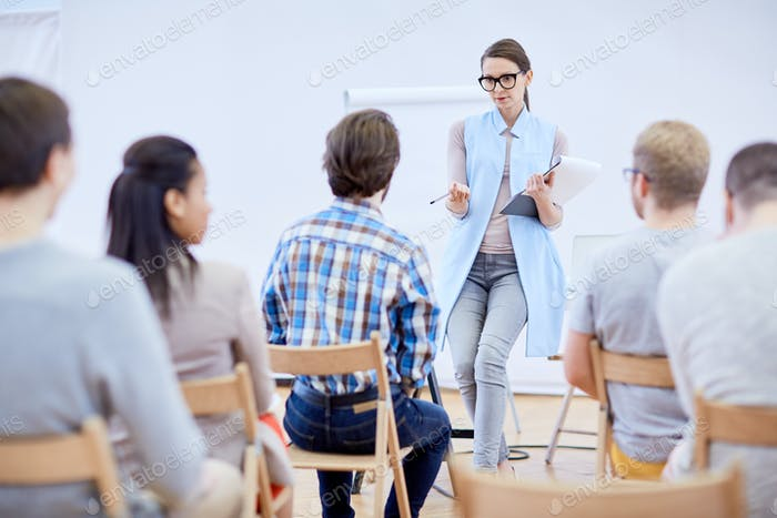 Talking to students