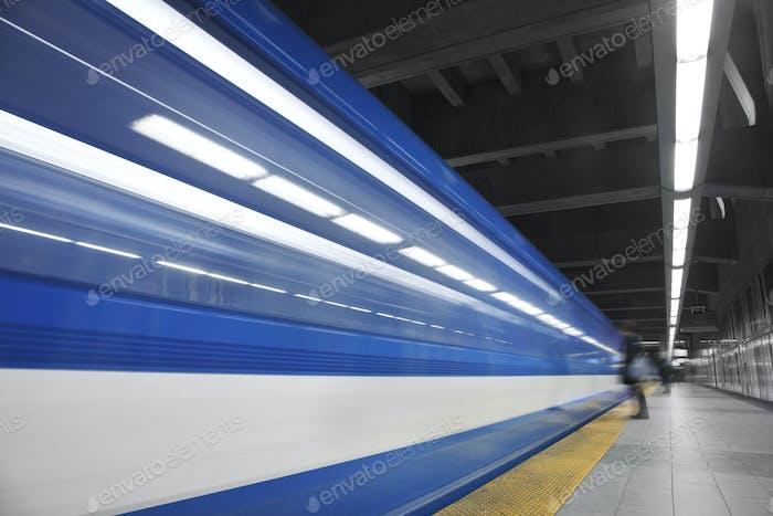 Girl Waiting the metro