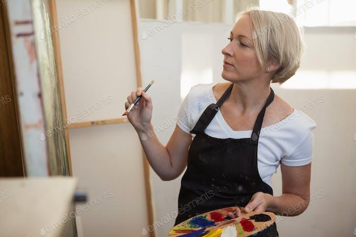 Pintura de Mujer sobre lienzo