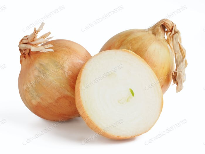 Onion isolated on white