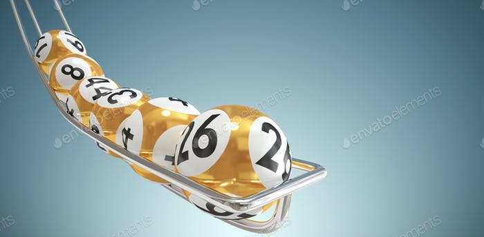 Composite image of balls of the lottery