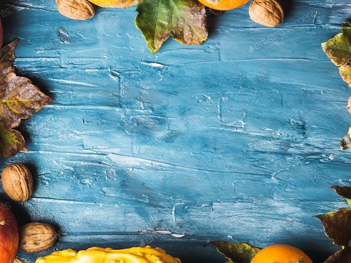 Thanksgiving Ernte Herbst Obst Hintergrund.