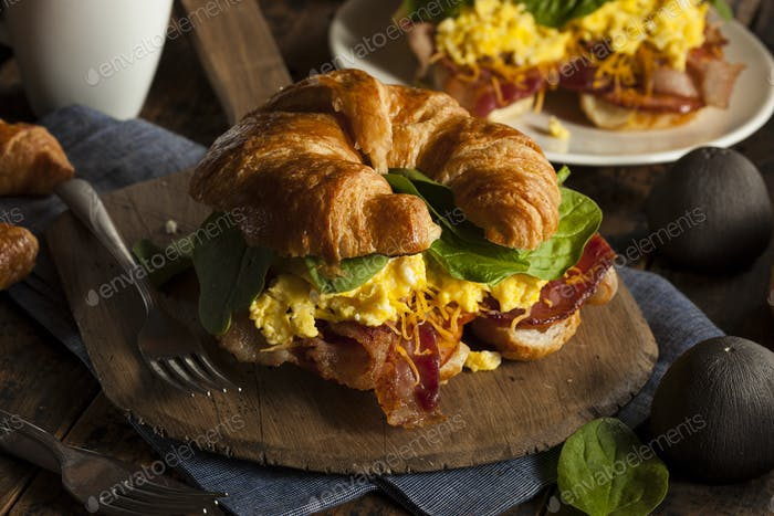 Ham and Cheese Egg Breakfast Sandwich
