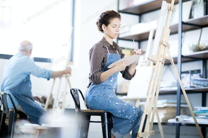 Arbeiten im Atelier der Künste