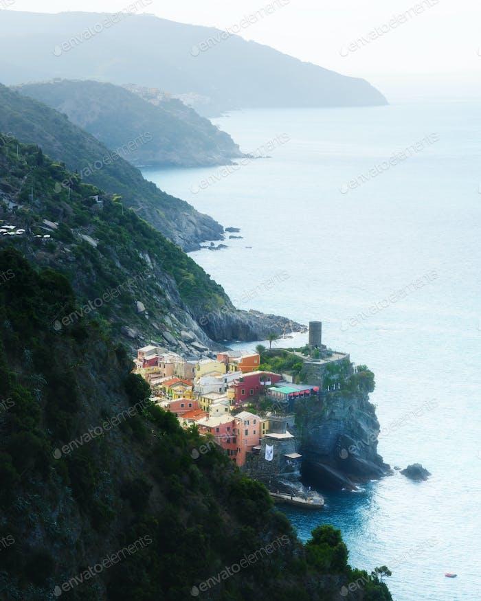 Fantastic landscape of Corniglia city