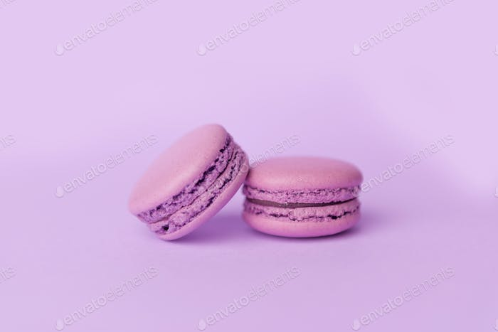 Two sweet purple macaroons