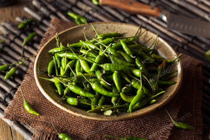 Hot Green Thai Chili Pepper