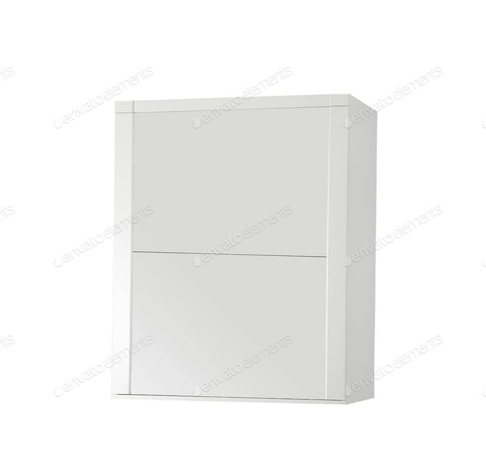 wooden nightstand isolated on white