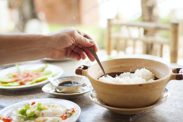 Asian vietnamese food