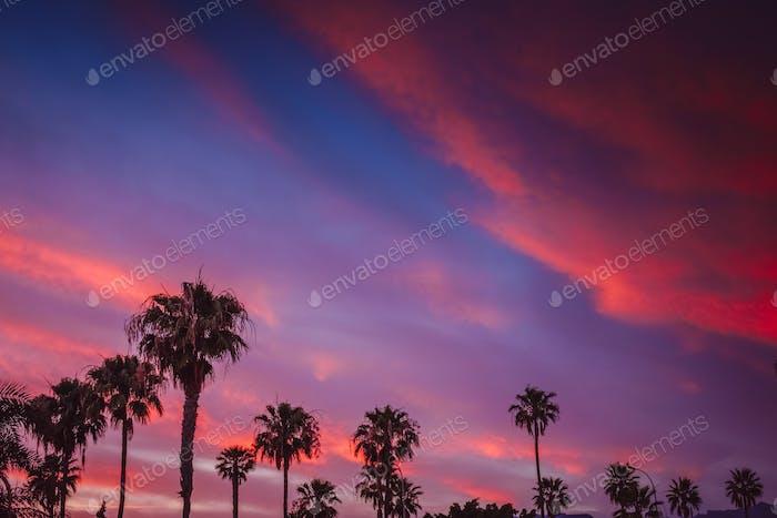 Beautiful sunset in Maspalomas