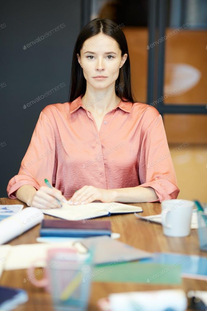 Caucasian Businesswoman At Work