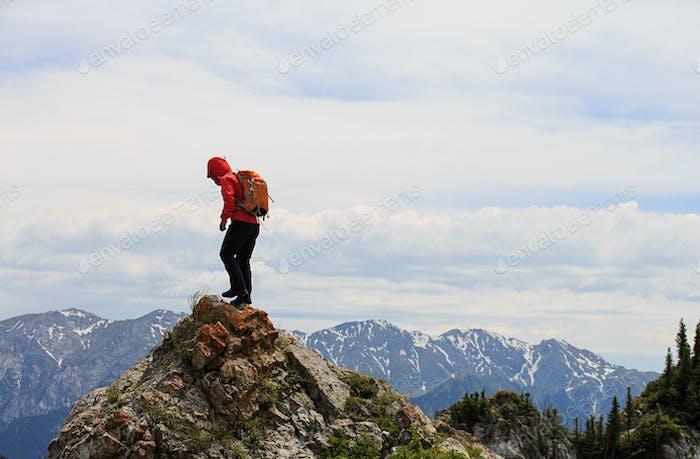Climbing up to the peak
