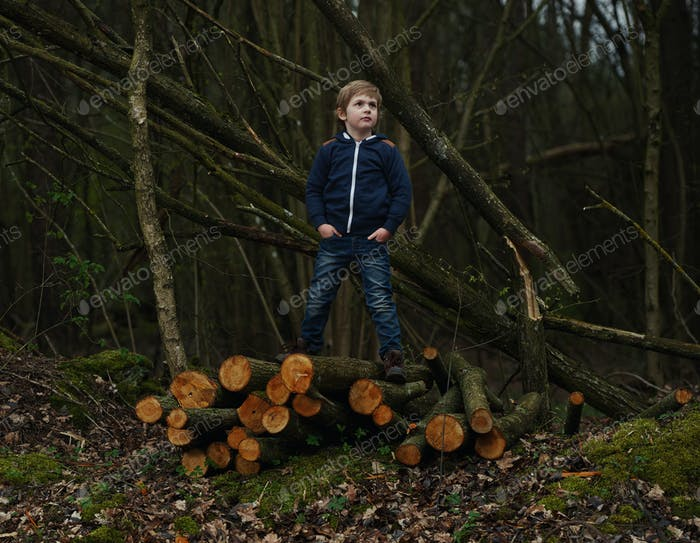 photo of little sweet lumberjack