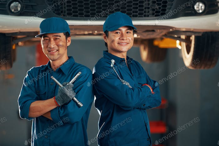 Confident service workers