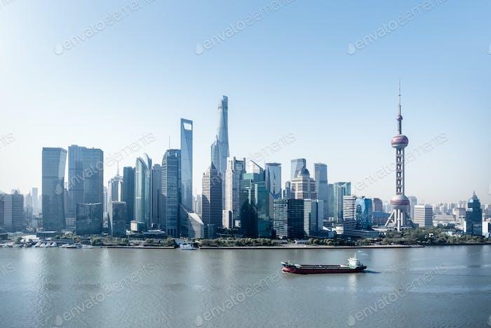 moderne skyline von Shanghai