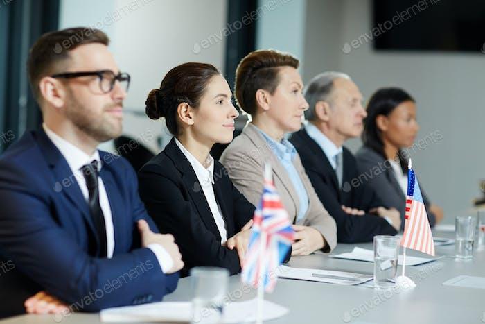 Row of delegates