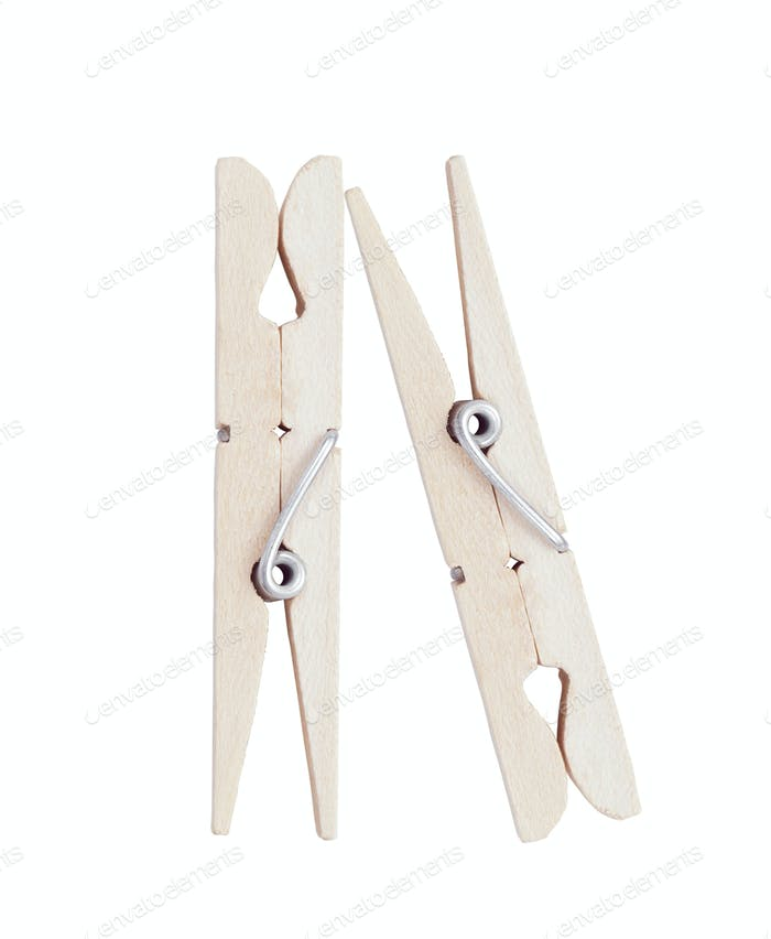 clothes pins isolated