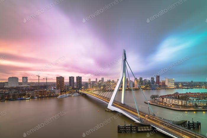 Rotterdam, Netherlands Skyline