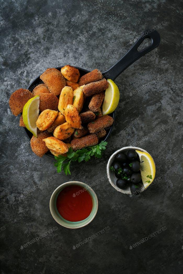Traditional portuguese snacks