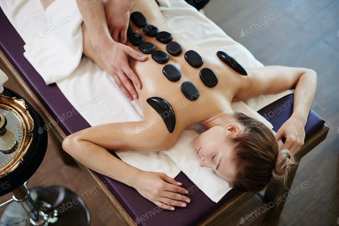 Relaxing Stone Therapy in Spa
