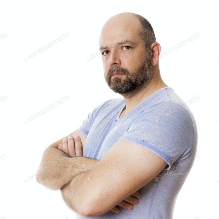 bearded strong man portrait