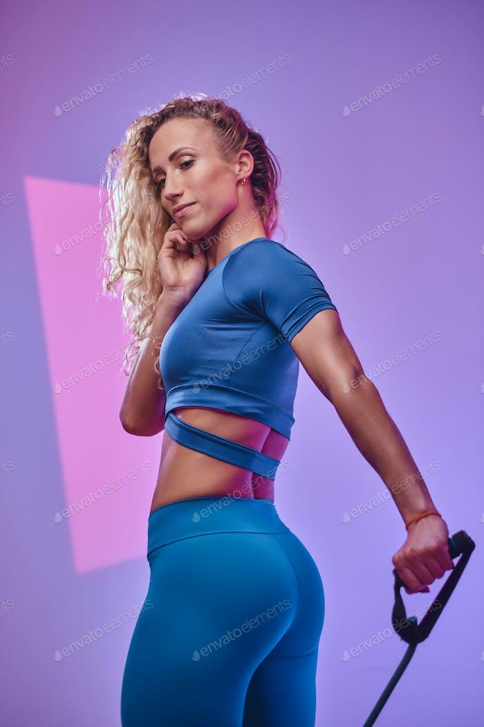 Portrait of a beautiful sporty woman