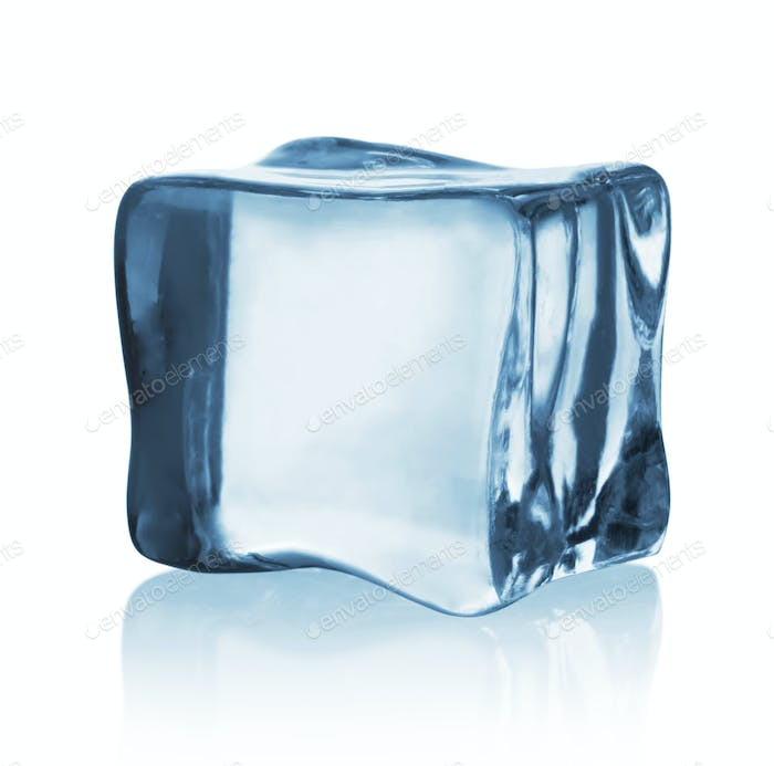 Transparent ice cube