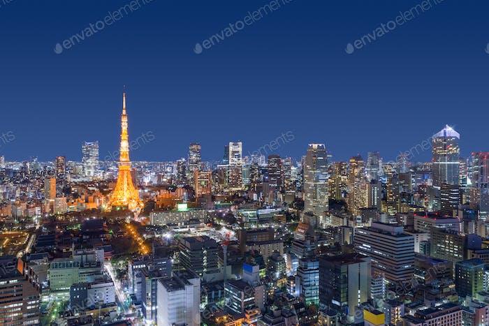 Tokyo, Japan Modern Urban Skyline
