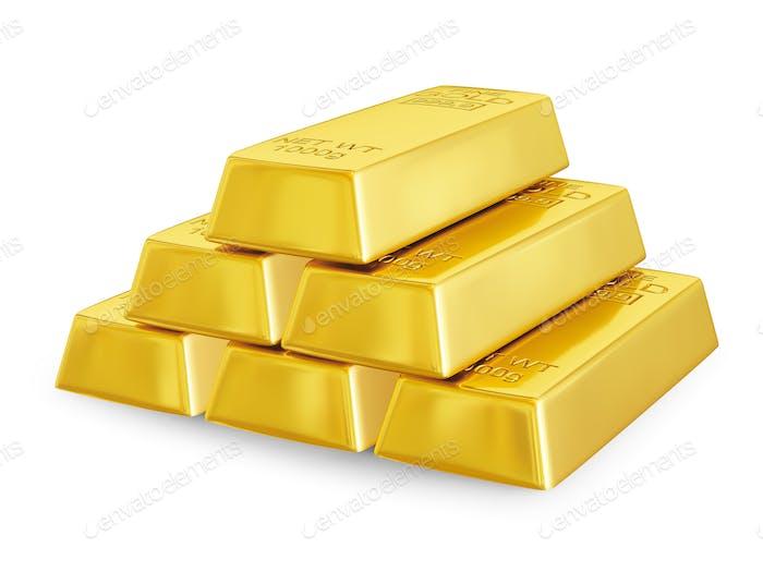 Gold bars pyramid