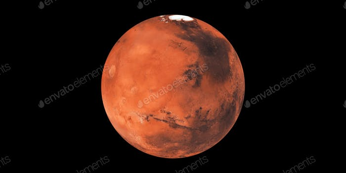 Mars red planet in space