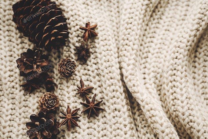 Stilvolle weihnachtliche Flachlage