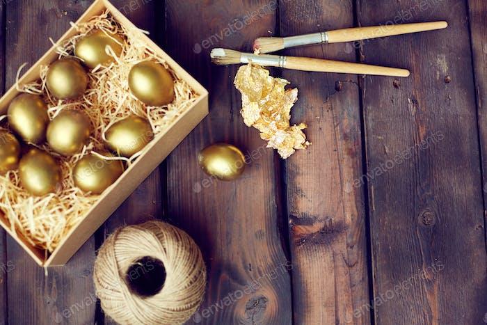 Gold leaf for Easter creativity