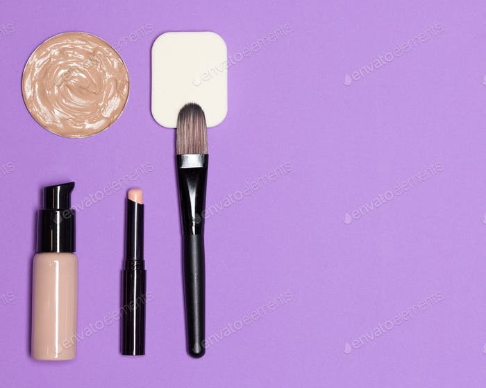 Corrective makeup products with copy space