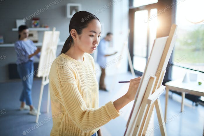 Girl by easel