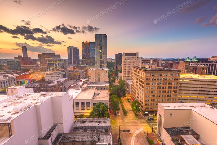Birmingham, Alabama, USA downtown city skyline