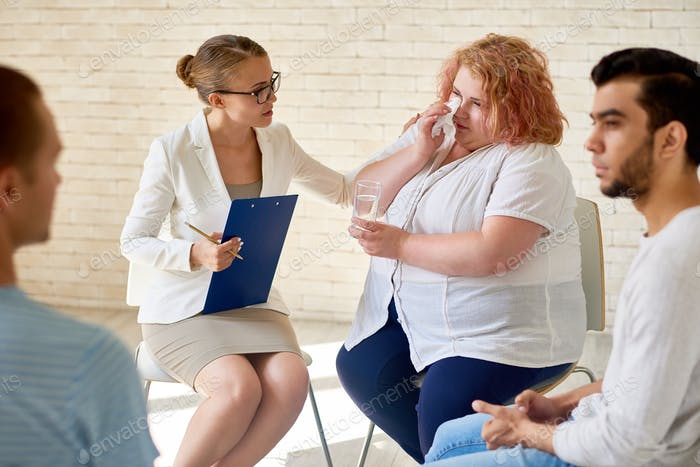 Obese Patient at Group Therapy Session