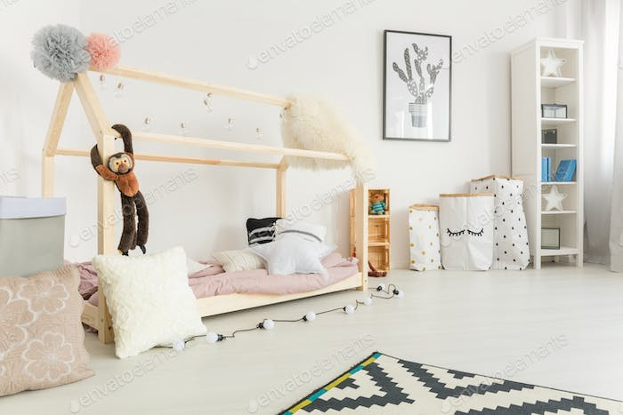 White, scandi style child bedroom