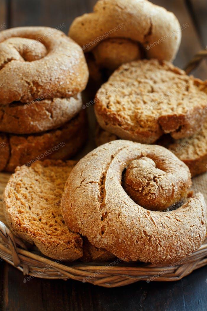Frisella, typical south italian bread