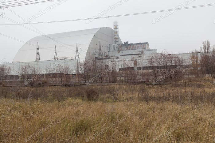 Chernobyl, Ukraine. 4 block of Chernobyl nuclear power plant
