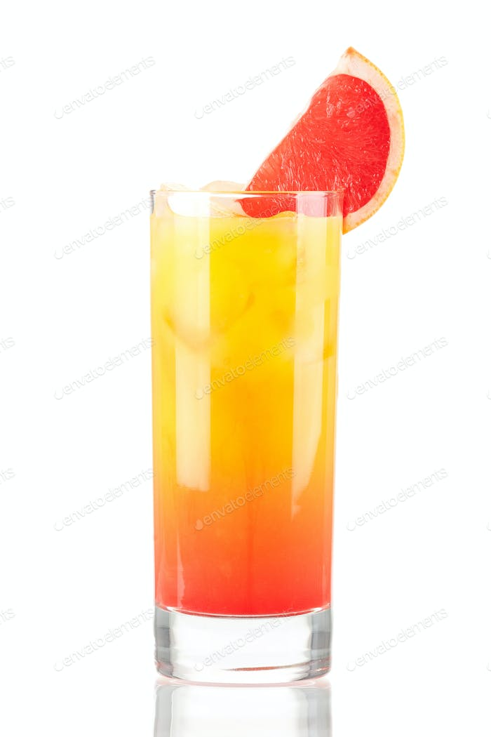 Tequila sunrise alcohol cocktail