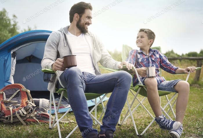 Hot summer is the best time for camping