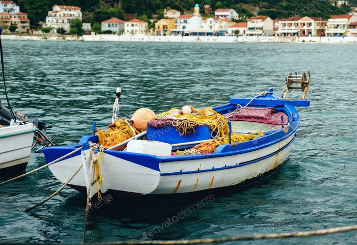 Old fishing boat in a bay