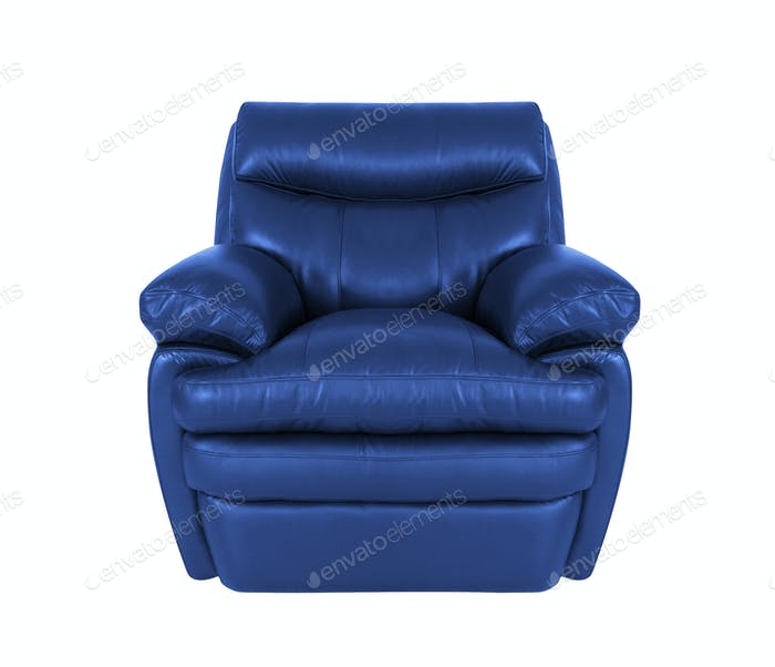 blue chair isolated on white
