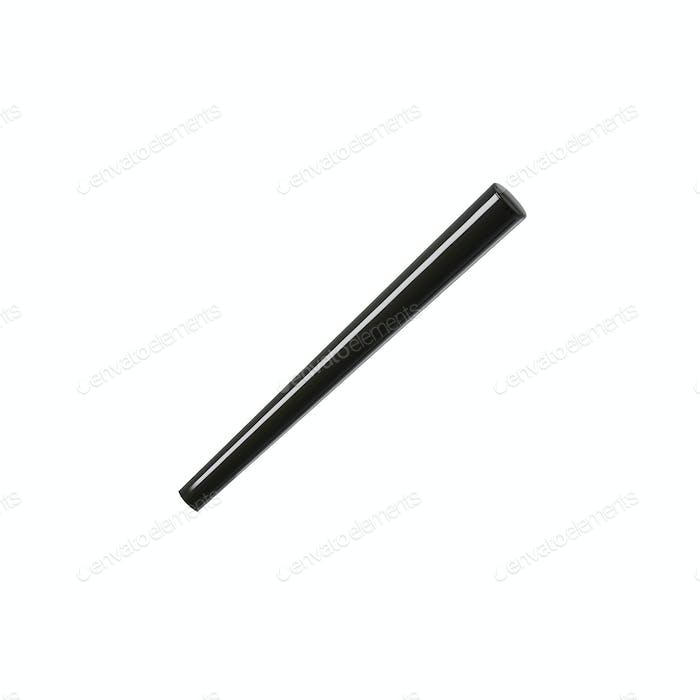 black stick isolated on white background