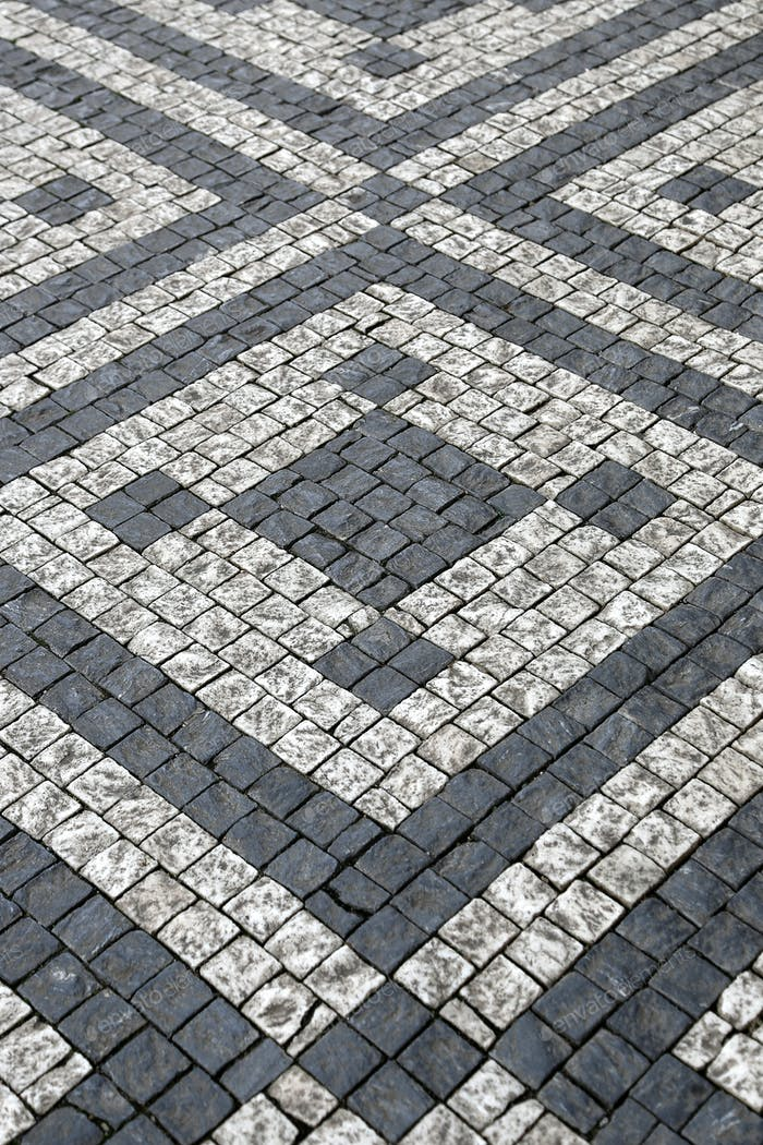Paving stones with pattern