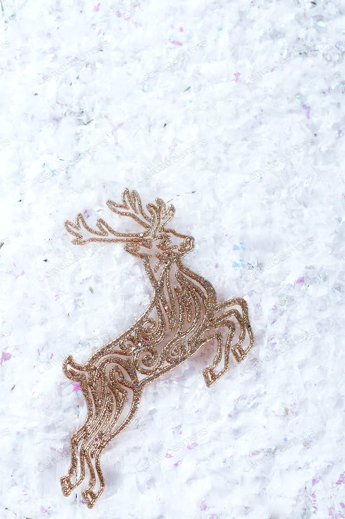 Decorative gold deer