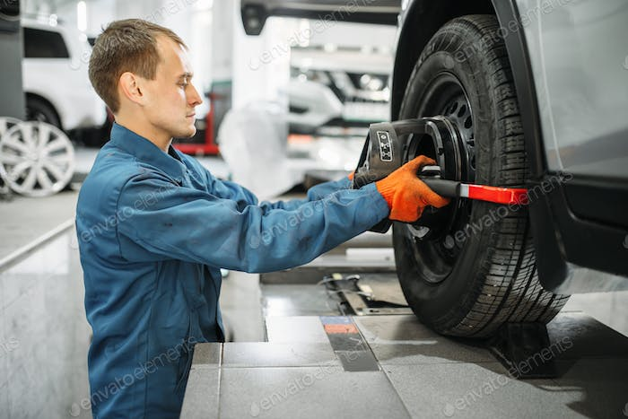 Mechanic works on collapse of convergence stand