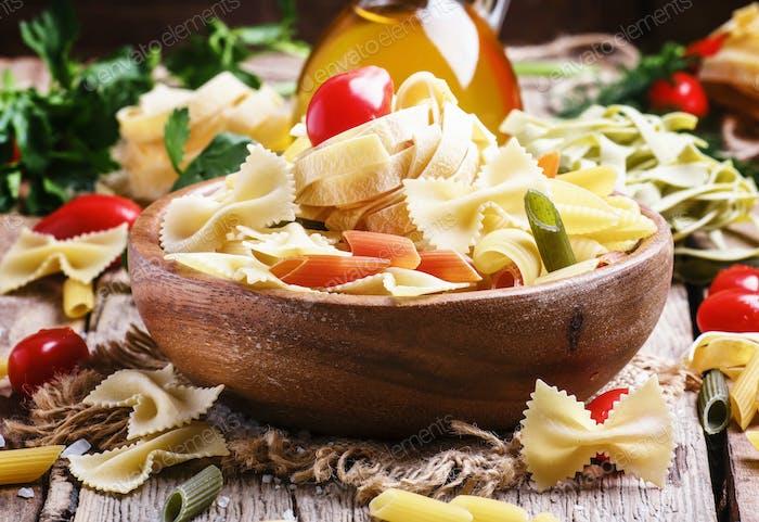 Raw pasta mix