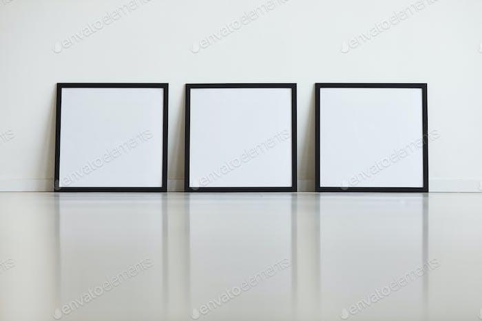 Three Frames on White Mock Up